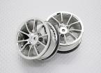 Escala 1:10 alta calidad Touring / deriva de las ruedas del coche RC de 12 mm Hex (2 piezas) CR-12CC
