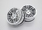 Escala 1:10 alta calidad Touring / deriva de las ruedas del coche RC de 12 mm Hex (2 piezas) CR-RS4C