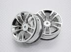 Escala 1:10 alta calidad Touring / deriva de las ruedas del coche RC de 12 mm Hex (2 piezas) CR-DBSC