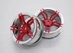 Escala 1:10 alta calidad Touring / deriva de las ruedas del coche RC de 12 mm Hex (2 piezas) CR-FFR