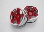 Escala 1:10 alta calidad Touring / deriva de las ruedas del coche RC de 12 mm Hex (2 piezas) CR-RS6R