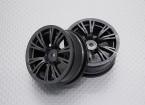Escala 1:10 alta calidad Touring / deriva de las ruedas del coche RC de 12 mm Hex (2 piezas) CR-BRM