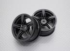 Escala 1:10 alta calidad Touring / deriva de las ruedas del coche RC de 12 mm Hex (2 piezas) CR-F12M