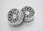 Escala 1:10 alta calidad Touring / deriva de las ruedas del coche RC de 12 mm Hex (2 piezas) CR-LBC