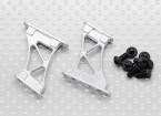 1/10 de aluminio CNC de extremo / Apoyo ala-Frame Medio (Plata)