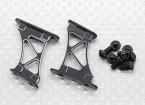 1/10 de aluminio CNC de extremo / ala de soporte del marco-Medio (Negro)