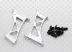 1/10 de aluminio CNC de extremo / ala de soporte del marco de alcance (de plata)