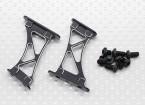 1/10 de aluminio CNC de extremo / ala de soporte del marco de alcance (Negro)