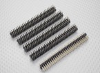 Alfiler Cabecera de 3 hileras 30Pin 2.54mm (5PCS)