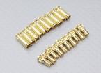 Conectores de bala 4mm RCPROPLUS Supra X de oro (10 pares)