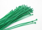 De uniones de cable 160 x 2,5 mm Verde (100pcs)