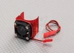 Motor del disipador de calor w / rojo del ventilador de aluminio (27 mm)
