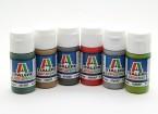 Italeri acrílico Conjunto de pintura (plana) - MTB y buques (6pc)