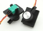 Transmisor de telemetría FrSky 2,4 GHz ACCST TARANIS X9D digital deslizante lateral de reemplazo (2pcs)