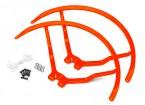 8 pulgadas de plástico universal multi-rotor hélice Guardia - naranja (2set)