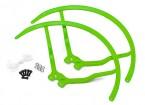9 pulgadas de plástico universal multi-rotor hélice Guardia - Verde (2set)