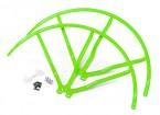 10 pulgadas de plástico universal multi-rotor hélice Guardia - Verde (2set)
