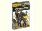 Italeri 1/56 Escala de infantería alemana 1943-1945 (12pc) Figura Kit Militar