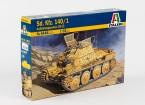 Sd Italeri 1/35 Escala. Kfz.140 / 1 Aufklarungsp.38 Kit (T) Modelo Plástico
