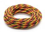 Trenzado 22 AWG Servo cable rojo / Negro / Amarillo (5mtr)