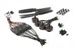 LDPOWER D250-1 sistema de energía de Multicopter 2204-2300kv (6 x 3) (4 Pack)
