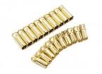 Conectores de bala 5mm Supra X de oro (10 pares)