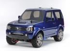 Tamiya 1/10 escala Suzuki Jimny azul metálico cuerpo pintado (MF-01X Chasis) 58621