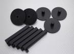 Soporte del motor eléctrico de descuento en montajes de 10 mm (5 piezas)