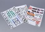 Hoja de auto-adhesivo de la etiqueta - Norton Escala 1/10 (3 piezas)