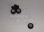 La luz de la espuma de ruedas Diam: 25, Anchura: 12 mm (5pcs / bolsa)