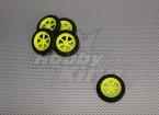 Super Multi luz rayo rueda D46x9mm (5pcs / bolsa)