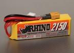 Rhino 2150mAh 14.8v Lipo 4S Paquete 25C