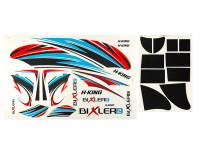 HobbyKing Bixler 2 EPO 1500mm - Replacement Decals (Blue/Red)