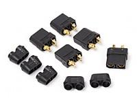 Nylon XT90 conectores hembra (5 PC / bolsa) Negro