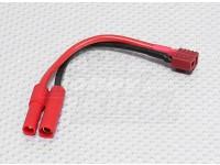 HXT 4mm Conector en T-enchufe del cable de carga de conversión