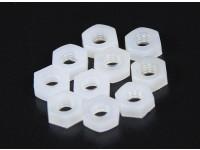 M3 Tuerca de nylon (10pcs / bag)