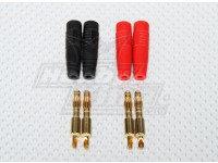 4 mm enchufe de plátano / Charge Plug (soldables) (2 pares / bolsa)