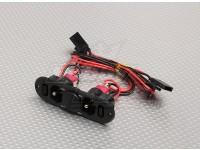 Deber pesada Interruptor RX Doble con puerto de la carga de combustible y Dot en blanco