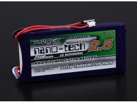 Turnigy nano-tech 2500mAh 3S1P 5 ~ 10C Lipo del transmisor Paquete (Futaba 6EX y 3pks)