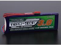 Turnigy nano-tech 3000mAh 2S1P 20 ~ 40C Receptor Paquete LiFePo4