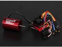 Turnigy TrackStar impermeable 1/10 sin escobillas de alimentación del sistema 3520KV / 80A