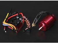 Turnigy TrackStar impermeable 1/8 sin escobillas de alimentación del sistema 2300KV / 120A