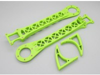 Hobbyking SK450 reemplazo juego brazo - verde brillante (2pcs / bolsa)