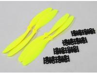10x4.5 SF Puntales de 2 piezas estándar Rotación / 2 pc RH rotación (Flouro amarillo)