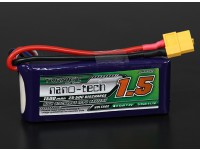Turnigy nano-tech 1500mah 3S 25 ~ 50C Lipo Pack de