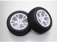Buggy Neumático trasero Conjunto (Split 5 rayos) - 1/10 Quanum Vandal 4WD Buggy Racing (2 unidades)