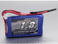 Turnigy 1800mAh 12C Lipo 2S Receptor Paquete