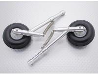 Aleación Oleo Strut Set con ruedas y neumáticos de goma (104 mm Longitud, de 4 mm de montaje Pin)