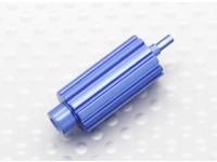 Asciende aluminio rodillo rueda de desplazamiento para Spektrum DX transmisores de la serie (azul)