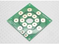 Placa de distribución de Hobbyking multi-rotor de potencia (DIY 8 x PCB de salida)